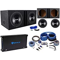 (2) Rockford Fosgate Punch P3D2-12 12 Subs+Vented Box+1500W Amplifier+Amp Kit