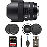 Sigma 14-24mm f/2.8 DG HSM Art Lens for CANON EF (212954) Wide-Angle Zoom Lens for Canon EOS Cameras With Sigma USB Dock & 64GB SD Card