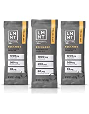 LMNT Recharge Electrolyte Hydration Powder | Formulated by Robb Wolf and Ketogains | Keto & Paleo | No Sugar, No Artificial Ingredients | Orange Salt | 30 Stick Packs