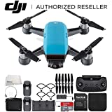 DJI Spark Portable Mini Drone Quadcopter Fly More Combo Bundle (Sky Blue)
