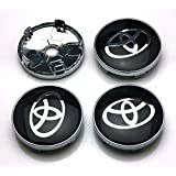 BENZEE 4pcs W238 60mm Black Car Emblem Badge Sticker Wheel Hub Caps Centre Cover TOYOTA COROLLA RAV4 Camry PRIUS REIZ VIOS
