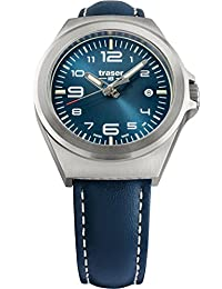 traser P59 Essential S Blue Dial Blue Leather Band Unisex Watch 108208
