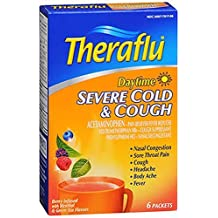 Theraflu Daytime Severe Cold & Cough Berry Flavor Green Tea, 6 count - Buy Packs and SAVE (Pack of 5)