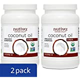 Nutiva Organic, Cold-Pressed, Unrefined, Virgin Coconut Oil from Fresh, non-GMO, Sustainably Farmed Coconuts, 15 Fluid Ounces (Pack of 2)