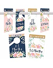 6 Baby Closet Size Dividers Baby Girl - Floral Baby Closet Dividers By Month, Baby Closet Organizer For Nursery Organization, Baby Essentials For Newborn Essentials Baby Girl, Nursery Closet Dividers