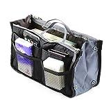 1 pieza de inserción dama mujer bolso organizador bolso grande forro para bolsa de organizador Travelbrand nuevo negro