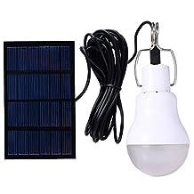 Solar Powered Lamp Portable Led Bulb Lights Solar Energy Panel Led Lighting for Camp Tent Night 130LM