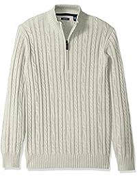 Men's Premium Essentials Cable Knit 1/4 Zip Sweater