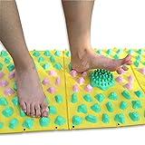 Nemoyard Pack of 2 Running Man Korean Outdoor Games Acupressure Massage Foot Mat with Tote Bag