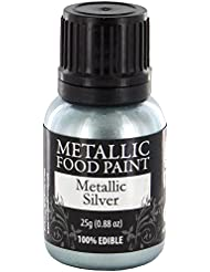 Metallic Food Paint, Metallic Silver, by Rainbow Dust
