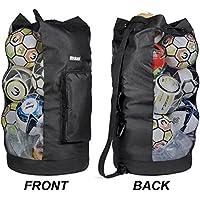 Heavy Duty XL Soccer Mesh Equipment Ball Bag w/Adjustable...