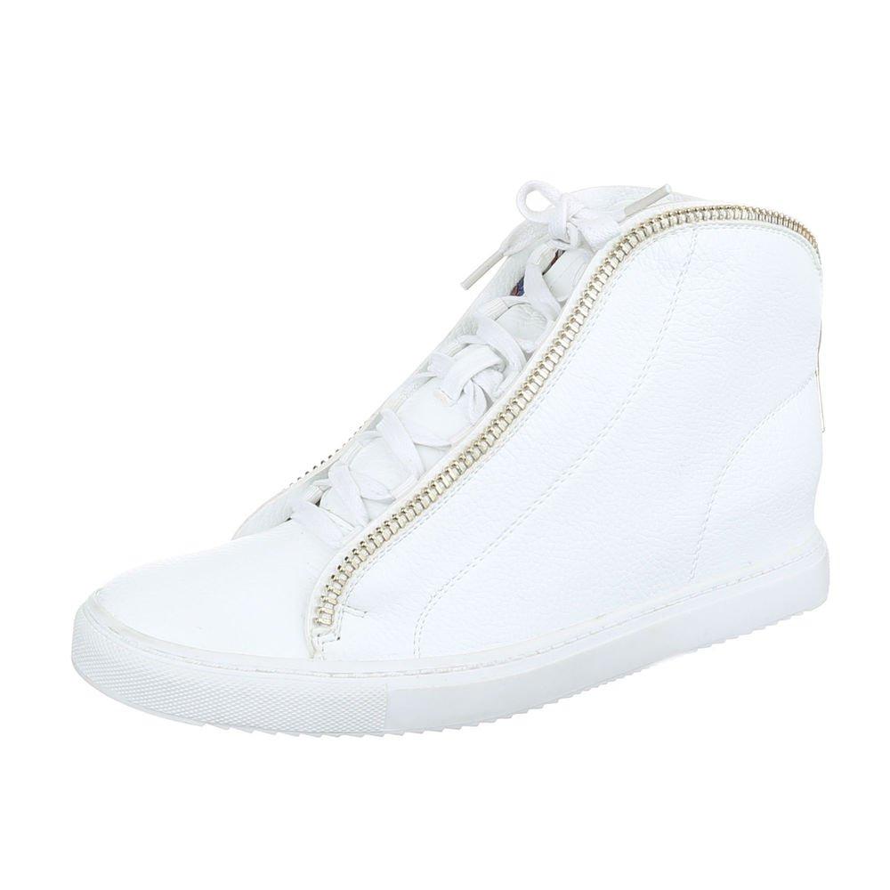 Ital-Design High-Top Sneaker Damenschuhe Schnürer Freizeitschuhe Weiß2018 Letztes Modell  Mode Schuhe Billig Online-Verkauf