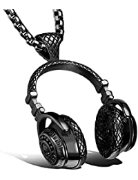 fashion Stainless Steel Headphone Pendant Necklace for Men