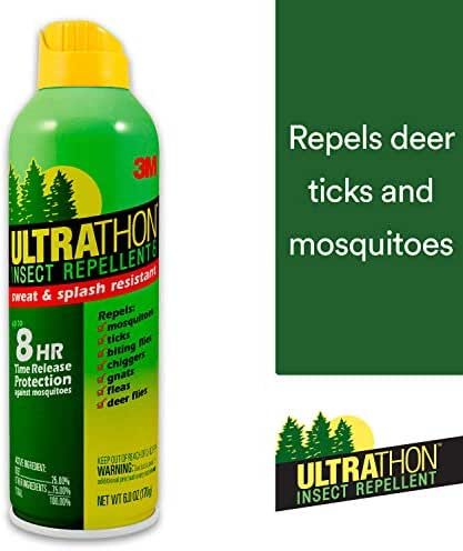 3M Ultrathon Insect Repellent Spray, 6 oz, Repels Mosquitoes, Flies, Gnats and Ticks