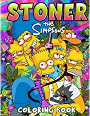 The Simpson Stoner Coloring Book: Stoner Psychedelic Coloring Book For Adults, Coloring Books For Stress Relief And Relaxation