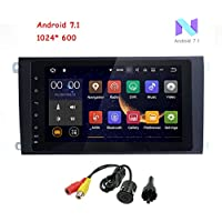 MCWAUTO for Porsche Cayenne 8 inch 2 Din Android 7.1 Quad Core Car Stereo 1024 HD Touchscreen Car Radio Receiver DVD GPS Navigation Free Mic+Preloaded North American Map+Rear Camera