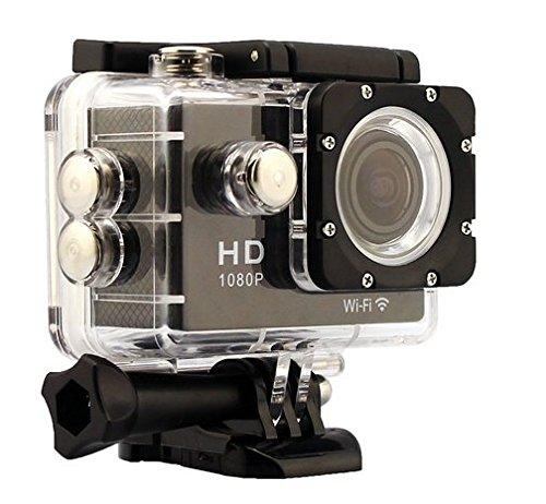Inton 2.0-inch Wasserdicht WiFi HD 1080P Sports Kamera (schwarz)