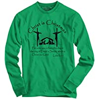 Christ is Christmas Christian Jesus God Lord Holidays Snow Long Sleeve Tee
