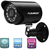 Floureon 900TVL Waterproof CCTV DVR Security Cameras Wall Mount IR-CUT Night Vision Bullet Cameras