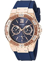 GUESS Womens Quartz Stainless Steel Casual Watch, Color:Blue (Model: U1053L1)