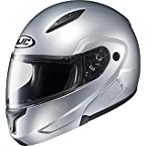 HJC Metallic Mens CL-MAX II Bluetooth Street Bike Motorcycle Helmets - CR Silver/