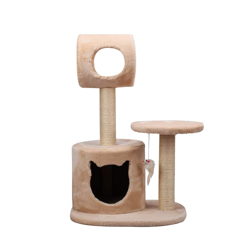 Beige DIY cat Climbing Frame, Environmental sisal Material, 29in high, Medium Kitten Grab Column, Optional color (color   Beige)