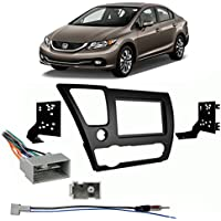 Fits Honda Civic 2013-2014 Double DIN Stereo Harness Radio Install Dash Kit