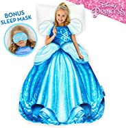 Blankie Tails | Disney Princess Dress Wearable Blanket - Double Sided Super Soft and Cozy Princess Minky Fleec