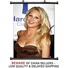 Anna Kournikova Tennis Player Fabric Wall Scroll Poster (32x49) Inches