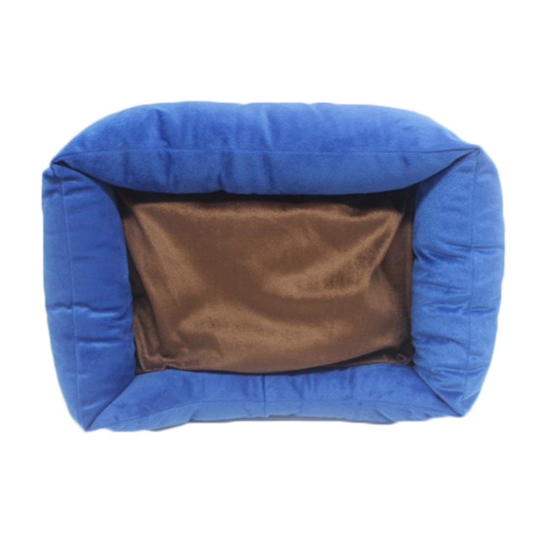 bluee 423010cm bluee 423010cm WENNEW Dog Kennel Autumn and Winter Dog Bed Cat Bed Pet Supplies (color   bluee, Size   42  30  10cm)