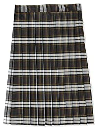 Cookie's Brand Big Girls' Pleated Skirt - Brown/White/Gold *Plaid #84*, 20