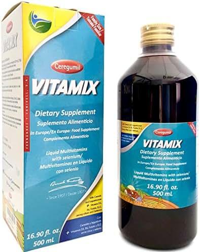 Ceregumil VITAMIX Family Size Liquid Multivitamin with Vitamin B Complex (B12, B6), Vitamin D3 & Biotin | Natural, Mediterranean Plant-Based Formula for Children, Teens, Adults & Seniors