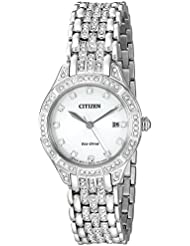 Citizen Womens Eco-Drive Watch with Crystal Accents, EW2320-55A