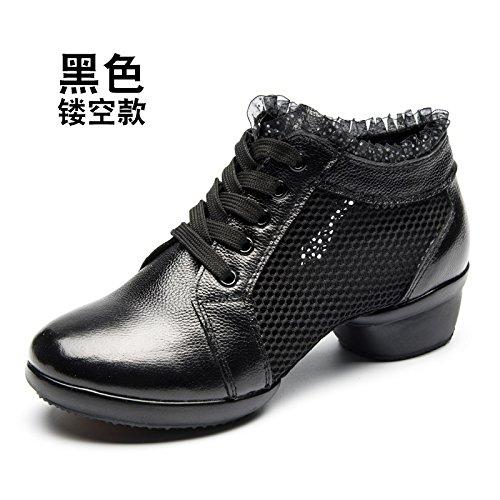 Sapage noir Wuyulunbi@ Avec des chaussures de danse Chaussures de danse de plancher Trente-six