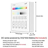 Bluetooth Mesh Smart Touch Panel Remote Controller, FVTLED Wireless Wall-Mounted 2.4G RF 4-Zone 3V Battery Operated Dimmable Touchscreen Panel Works for Recessed Downlight Bluetooth Mesh LED Bulb