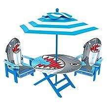 OKids Shark Adirondack Table and Chair Set