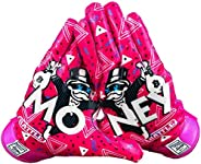 Battle Sports Money Man Ultra-Stick Football Receiver Gloves for Youth and Adults