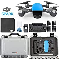 DJI Spark Fly More Combo - Sky Blue + Custom Silver Nanuk Waterproof Travel Case