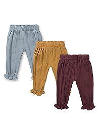 Kids Baby 3-Pack Boys Girls Unisex Fall Long Pants Autumn Ruffle Trouser