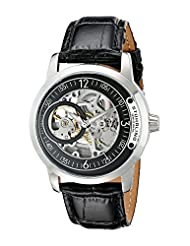 Stuhrling Original Men's 837.02 Classic Delphi Saros Analog Display Automatic Self Wind Black Watch