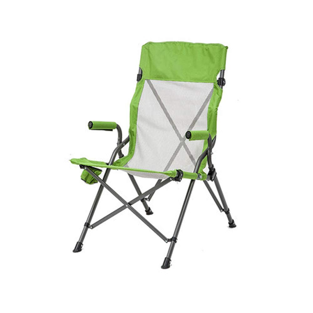 FH Camping-Freizeit-Sessel, Soft Seat Mesh Outdoor Driving Klappstuhl Bequemer Direktor Angeln Stuhl, Blau Grün Optional