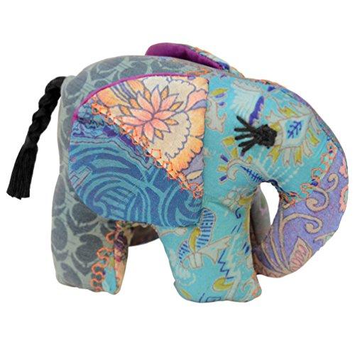 Teal Small Silk Elephant