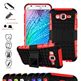 Nexus 5 5X 2nd Gen Case,Mama Mouth Shockproof Heavy Duty Combo Hybrid Rugged Dual Layer Grip Cover with Kickstand For LG Nexus 5 5X 2nd Generation 2015 (With 4 in 1 Free Gift Packaged),Red
