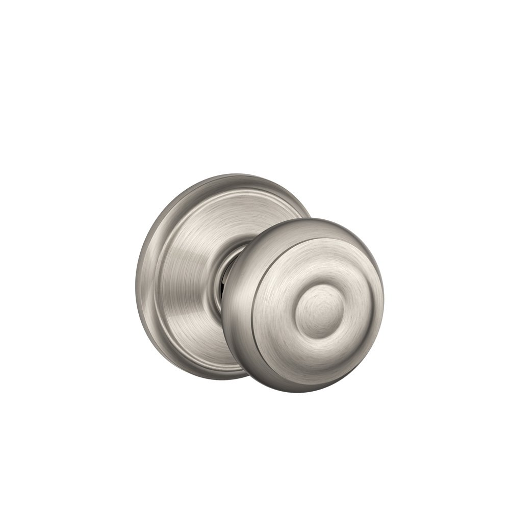 Schlage F10GEO619 Georgian Passage Knob, Satin Nickel