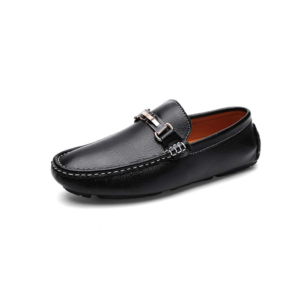 Blacksingle Men's Non-slip Wear resistant Business shoes Cozy Breathable Sleeve Middle-aged shoes Low help casual shoes
