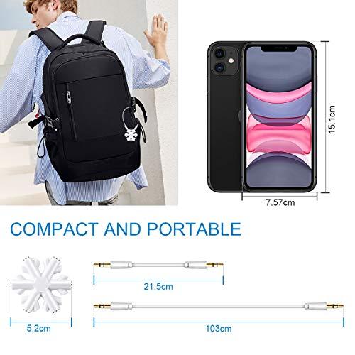 Répartiteur Audio 1 à 5, Adaptateur de Casque, AMIGIK Multiprise Jack 3,5 mm Flocon de Neige - Partage de Musique séparateur écouteurs pour téléphone Portable Tablette PC MP3 / MP4 (Pack de 2)