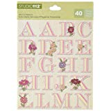 K & Company Patterned Alphabet Die-cut Stickers