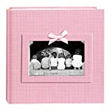 """Pioneer Photo Albums 200 Pocket Pink Gingham Fabric Frame Cover Photo Album for 4x6"""" Prints"""""""