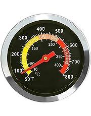 GFTIME 01T08 DIA 6 cm termometr wędzarniczy, miernik temperatury dla Weber, Char-Broil, NexGrill, Brinkmann, Kenmore, doskonały płomień, Charmglow, seria Uniflame i innych marek, termometr do grilla piekarniczego