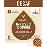VitaCup Decaf 16ct. Top Rated Coffee Cups Infused With Essential Vitamins B12, B9, B6, B5, B1, and D3, Pods Compatible with K-Cup Brewers including Keurig 2.0
